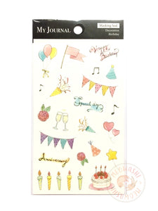 Pine Book my journal sticker - Birthday MJ00137
