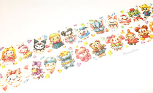 Sanrio and Disney characters doll washi tape