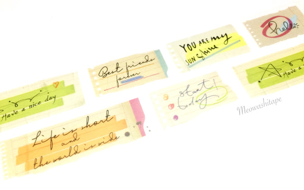 Kamito - Sticky notes message washi tape CRM040