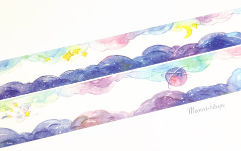 Rainbow cloud washi tape