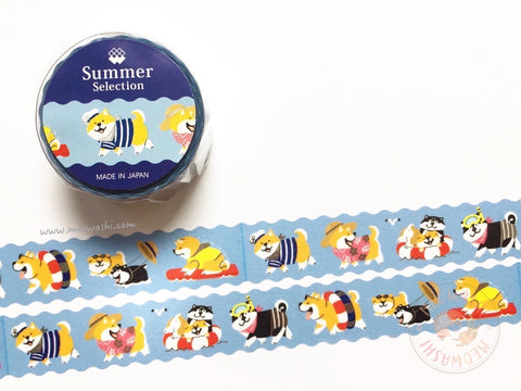 Mind Wave summer selection - Shibanban silver foil washi tape 93923