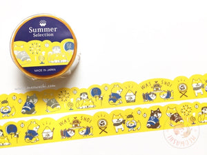 Mind Wave summer selection - Shibanban festival silver foil washi tape 93924