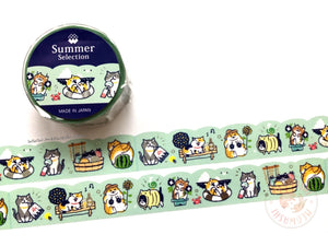 Mind Wave summer selection - Nyabanban silver foil washi tape 93925