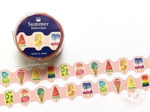Mind Wave summer selection - Fruity popsicles silver foil washi tape 93927
