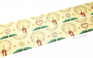 Sunny Sunday - Christmas embroidery mustard washi tape