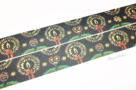 Sunny Sunday - Christmas embroidery navy washi tape