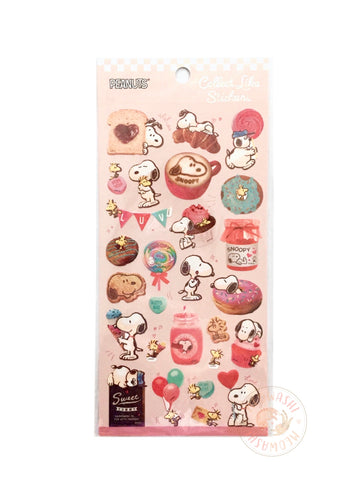 Kamio Collect like sparkle stickers - Snoopy bakery 23915