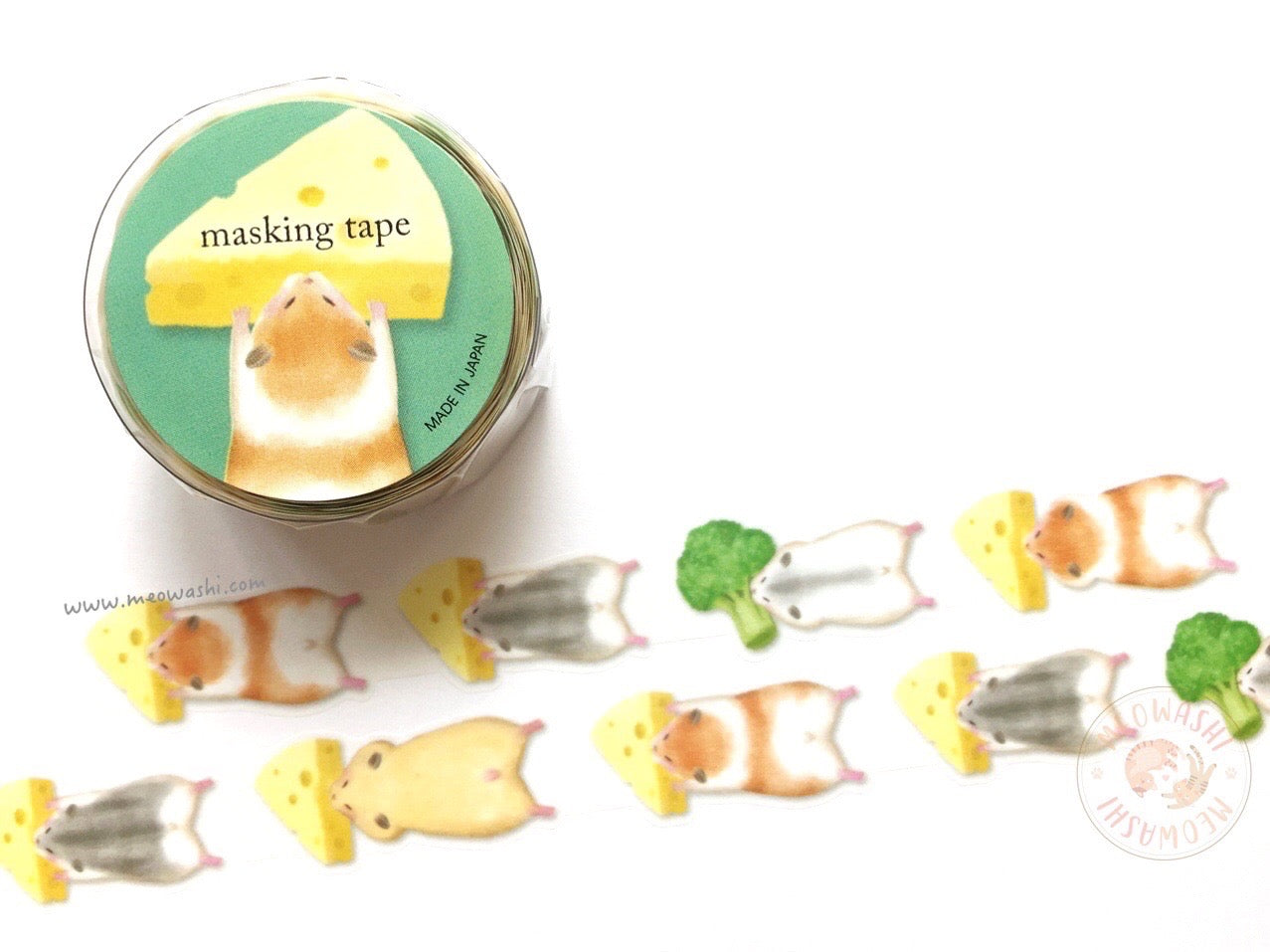 Mind Wave delish time collection - Hamster die cut washi tape