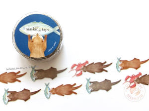 Mind Wave delish time collection - Otter die cut washi tape