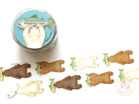 Mind Wave delish time collection - Bear die cut washi tape 94394