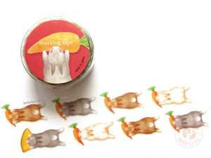 Mind Wave delish time collection - Rabbit die cut washi tape 94393