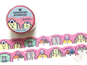 Mind Wave GOROGORO NYANSUKE die cut washi tape - Peeping 94502