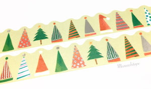 Round Top Space Craft X'mas 2017 - Christmas hat silver foil die cut washi tape