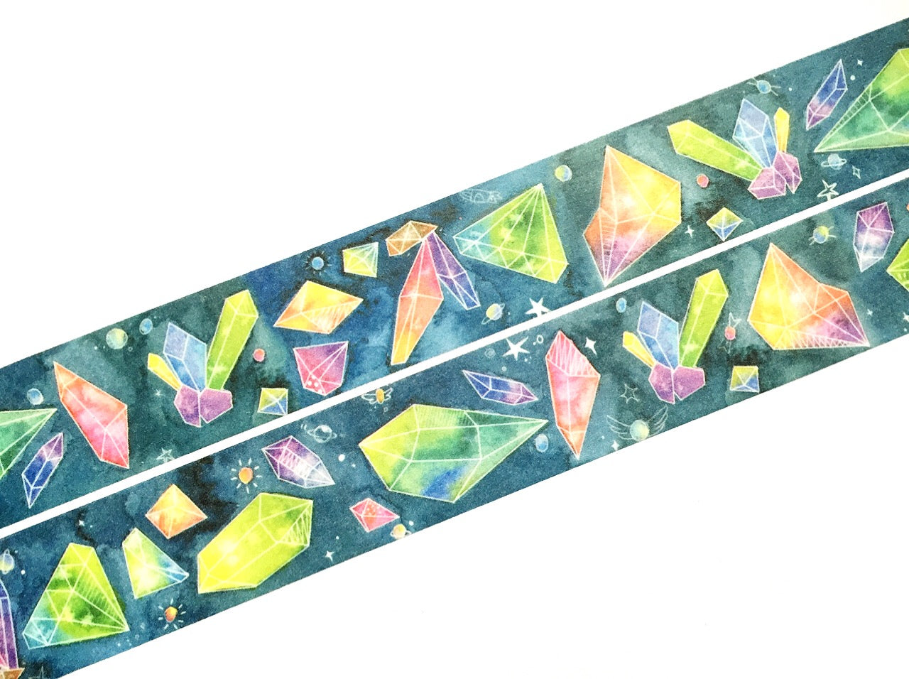 Colorful minerals washi tape