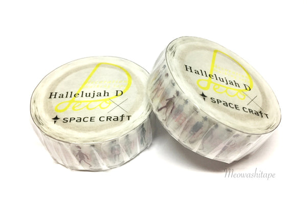 Round Top Space craft x Hallelujah D - Boys snap die cut washi tape