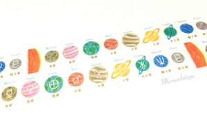STUDY HOLIC - Planetary science washi tape