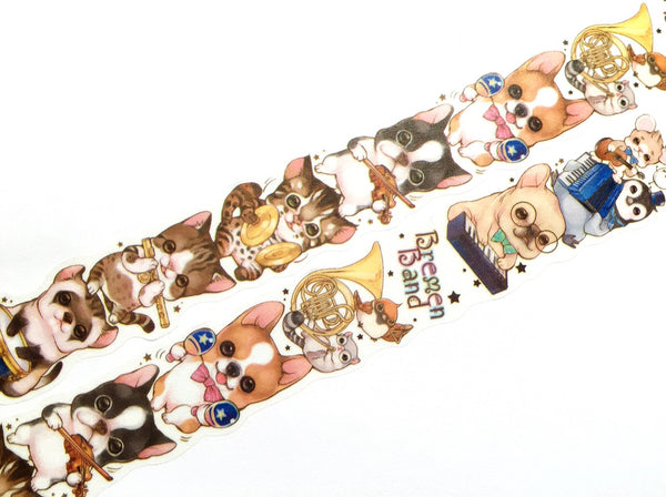 Cute animal band die-cut washi tape