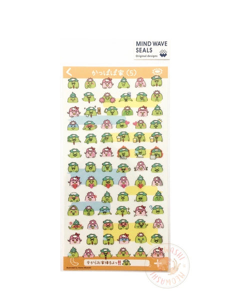 Mind Wave - PuchiPuchi the kappa family clear sticker 79876