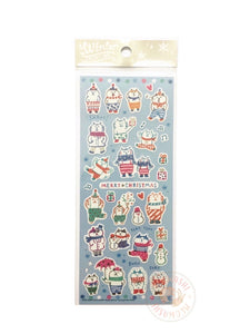 Mind Wave winter selection - GOROGORO NYANSUKE silver foil sticker 79138