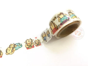 Mind Wave Peta roll washi sticker - GOROGORO NYANSUKE Suspender Brothers 79646