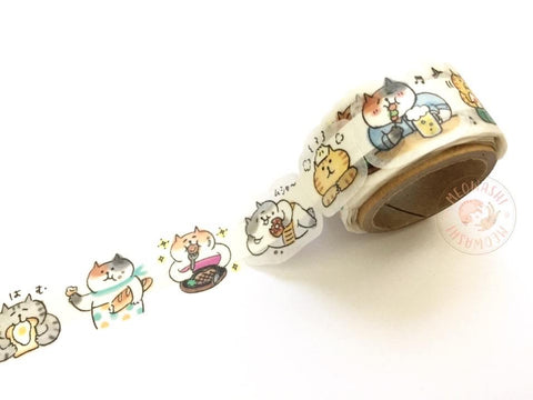Mind Wave Peta roll washi sticker - GOROGORO NYANSUKE Foodie 79647