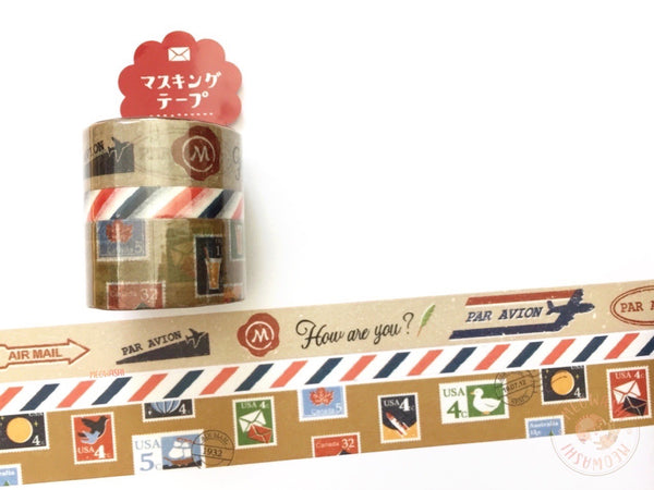 Mind Wave - Mail washi tape 3 rolls set 94448