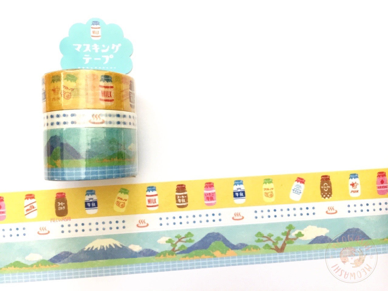 Mind Wave - Hot spring washi tape 3 rolls set 94449