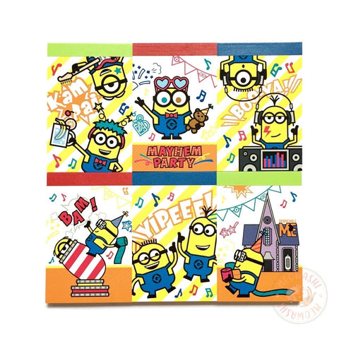 Minions mayhem party mini memo pad