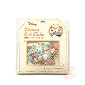 Kamio mercerie gold foil sticker flakes - Donald, Chip and Dale