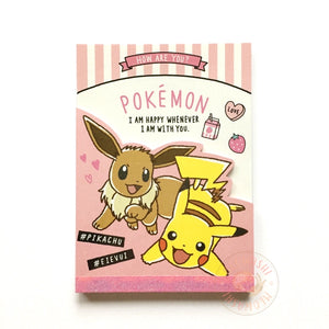 Pikachu and eevee memo pad