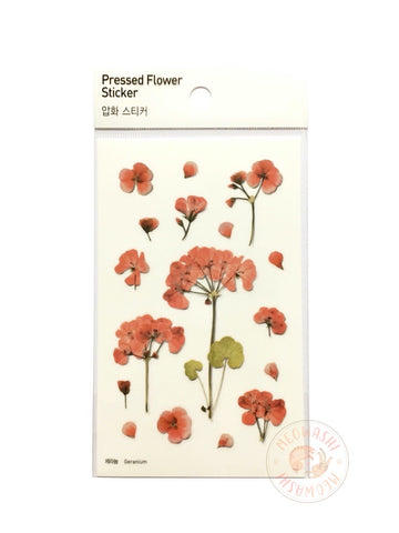 Appree pressed flower sticker - Geranium APS-009