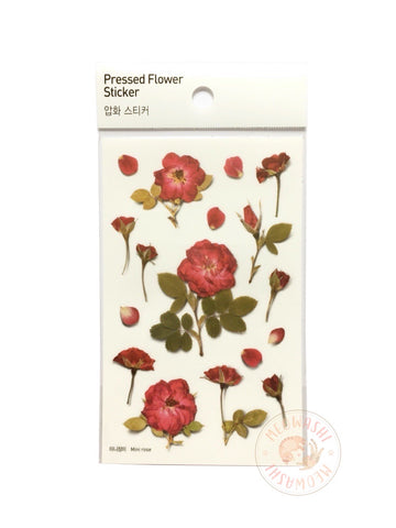 Appree pressed flower sticker - Mini rose APS-015