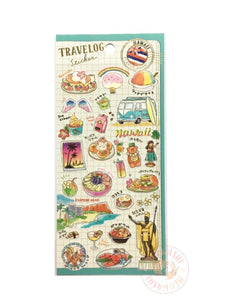 Mind Wave travelog gold foil sticker - Hawaii 79880