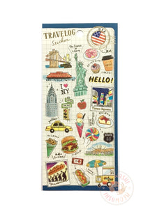 Mind Wave travelog gold foil sticker - USA 79881