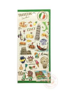 Mind Wave travelog gold foil sticker - Italy 79882