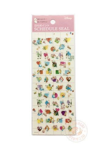 DELFiNO schedule seal - Alice in Wonderland clear sticker DZ-79743