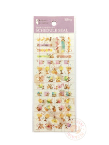 DELFiNO schedule seal - Chip and Dale clear sticker DZ-80682