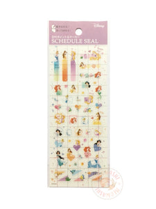 DELFiNO schedule seal - Disney princess clear sticker DZ-80684