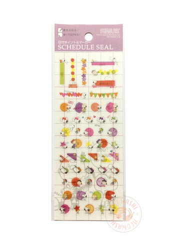 DELFiNO schedule seal - Peanuts clear sticker (P-13701)