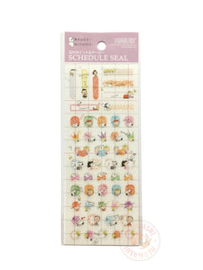 DELFiNO schedule seal - Peanuts clear sticker (P-13703)