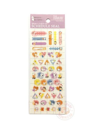 DELFiNO schedule seal - Peanuts clear sticker (P-13704)