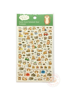 Pine Book schedule seal - Otter gold foil clear sticker TM01034