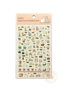 Pine Book schedule seal - Rabbit gold foil clear sticker TM01035