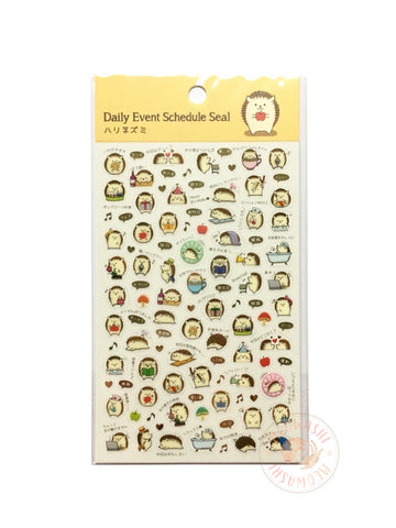 Pine Book schedule seal - Hedgehog gold foil clear sticker TM01036