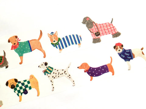 Aimez le style wide - Dog washi tape E02624