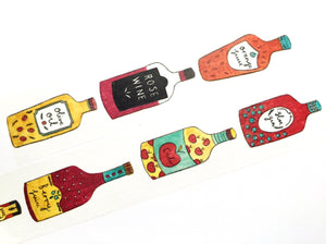 Aimez le style wide - Bottles washi tape E02853