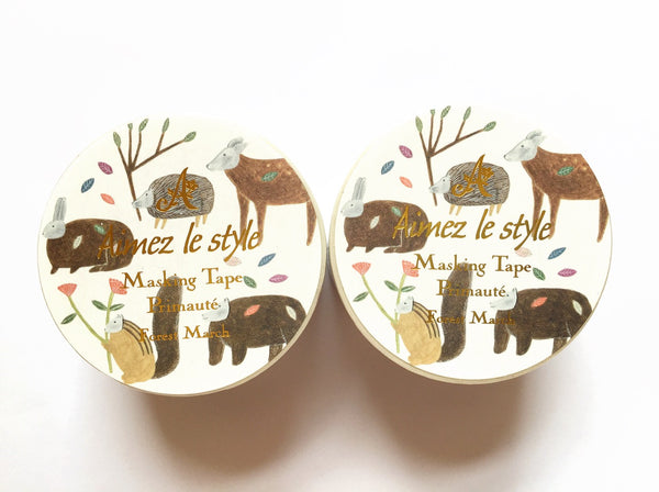 Aimez le style wide - Forest March washi tape E04604