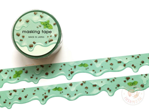 Mind Wave - Mint chocolate chip ice cream die cut washi tape 94666