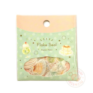 Papier Platz Nakauchi Waka washi sticker flakes - Cafe 37-832