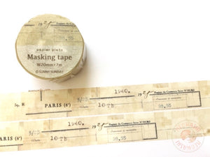 Papier Platz Sunny Sunday - Paris vintage washi tape 37-840